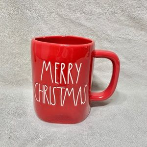"New Rae Dunn ""MERRY CHRISTMAS"" Red Christmas Mug"